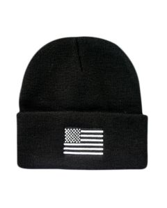 Patriotic United States Flag Black Watch Cap