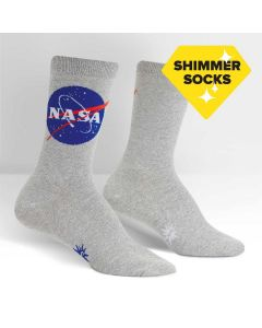 "Ladies NASA ""Titanium"" Shimmer Socks"