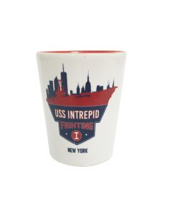 USS Intrepid Fighting I New York Shot Glass