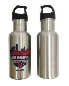 USS Intrepid Fighting I Stainless Steel Water Bottle