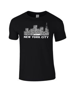 Adult NYC Skyline Intrepid Tee