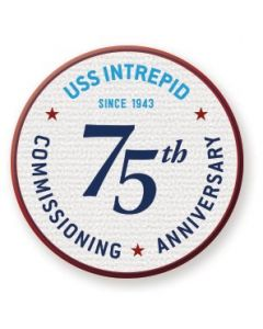 USS Intrepid 75th Anniversary Coin Patch