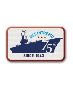 USS Intrepid 75th Anniversary Patch
