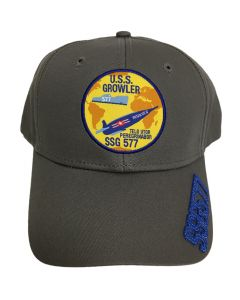 USS Growler SSG577 Embroidered Cap